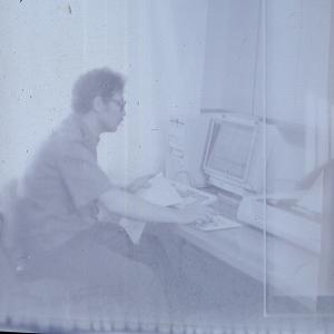 Работа с программным обеспечением компьютерной базы (Ефремов А.Г. фотосъемка 1993 года)