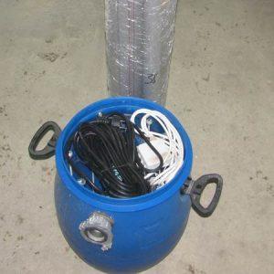 Измерительный резервуар и водосливных труб