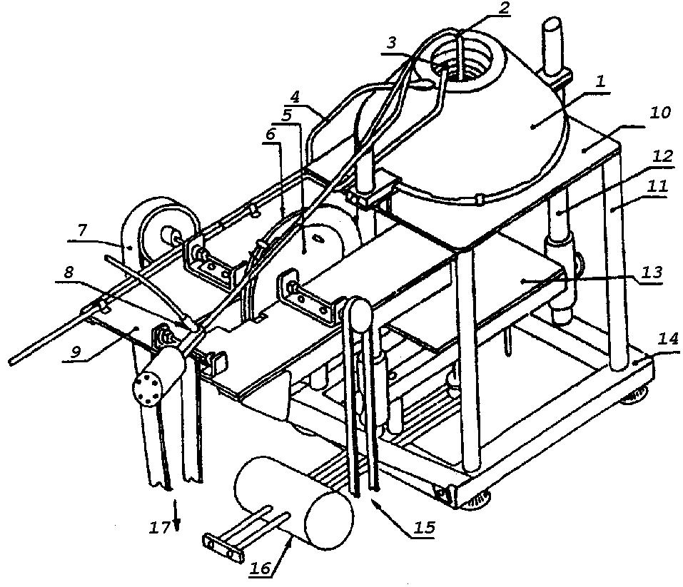 Схема установки определения воспламеняемости материалов