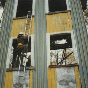 Чугунов М.Н. на преодолении учебной башни в Академии ГПС МЧС России