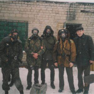 Практические занятие на территории тепло-дымокамеры (фотосъемка 2001 года)