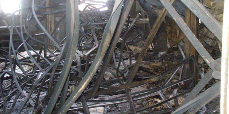 Определение соответствия состояния огнезащитной обработки металлических конструкций